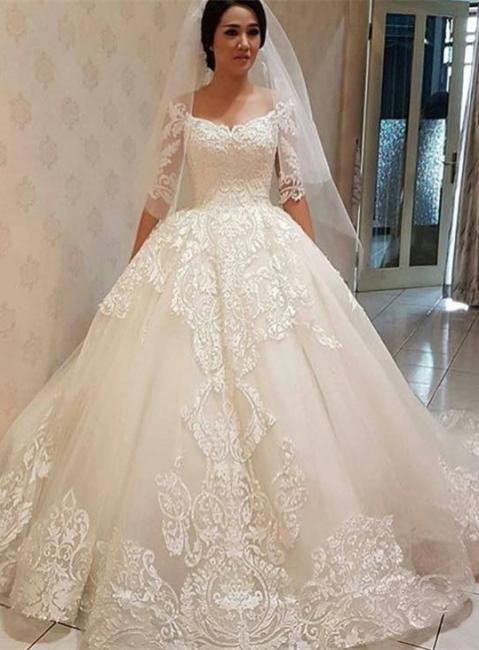 Elegante Brautkleider Mit Ärmel | Spitze Hochzeitskleider Günstig Online