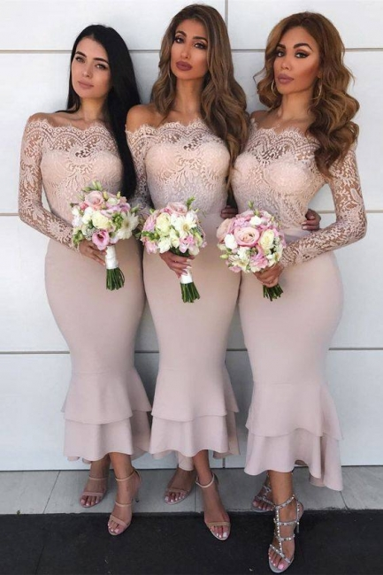 Elegant Short Bridesmaid Dresses With Sleeves Lace Bridesmaid Dresses