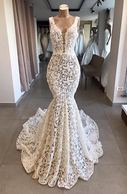 Elegant wedding dress lace mermaid | Wedding Dress Cheap Online
