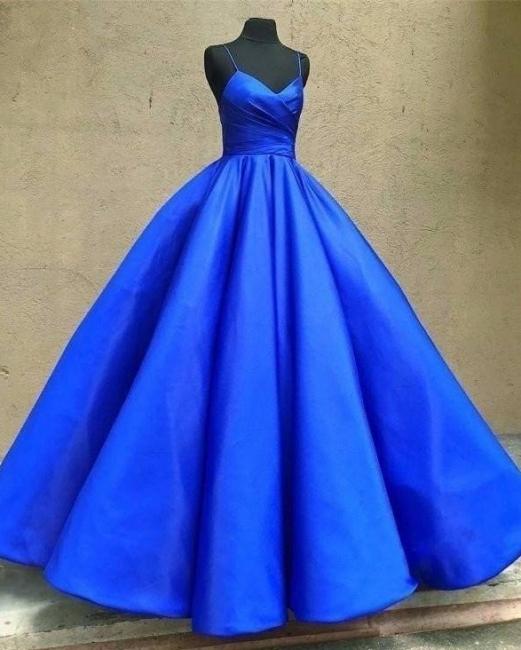 Fashion King Blue Evening Dresses Long Cheap Taffeta Evening Wear Prom Dresses Online