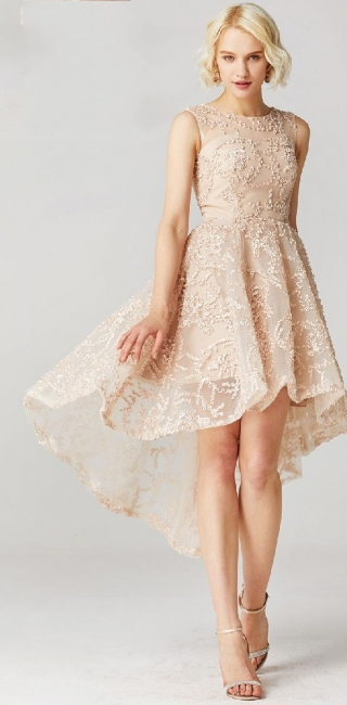 Beautiful Cocktail Dresses Short Lace Front Short Behind Long Prom Dresses Online