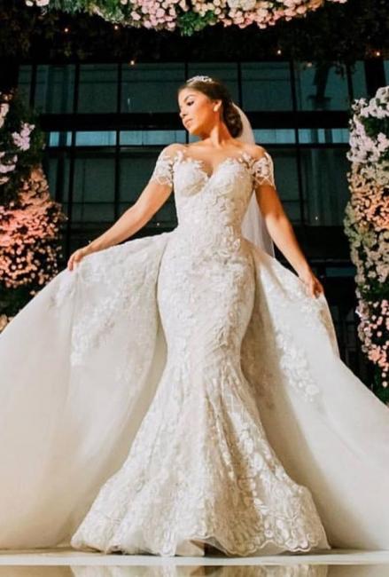 Luxus Brautkleider mit Spitze | Hochzeitskleider A Linie Online