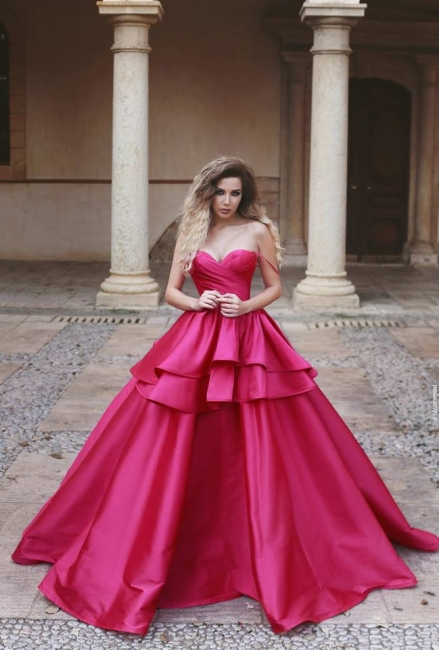 Elegant pink evening dresses long cheap princess prom dresses for sale