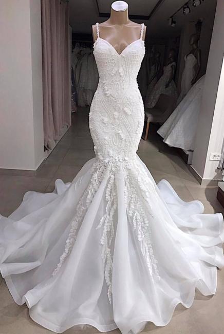 Fashion Brautkleid Meerjungfrau Online | Hochzeitskleid mit Spitze Günstig