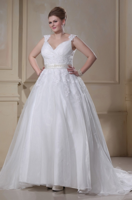Princess Wedding Dresses Plus Size Straps Organza Wedding Dresses Plus Size Cheap