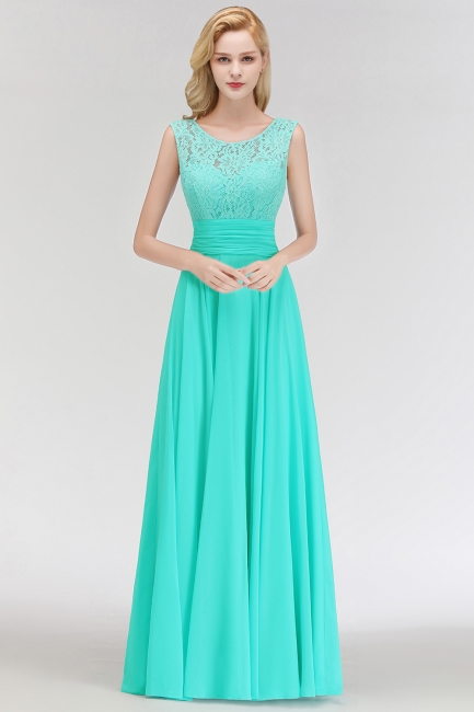 Mint Green Long Chiffon Bridesmaid Dresses With Lace Sheath Dresses For Bridesmaids
