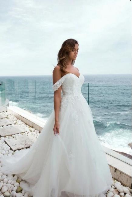 Designer Brautkleider mit Spitze | Hochzeitskleider A Linie Brautmoden