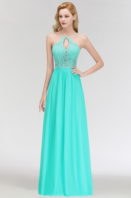 Cheap Bridesmaid Dresses Long Mint Green Erui Dresses With Lace