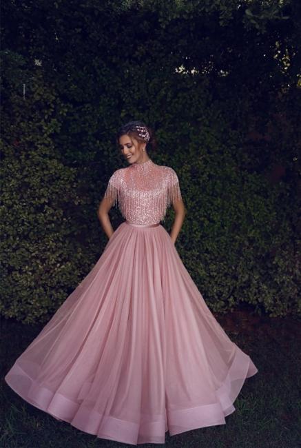 Luxus Abendkleider Lang Rosa | Etuikleider Abiballkleider Online Kaufen
