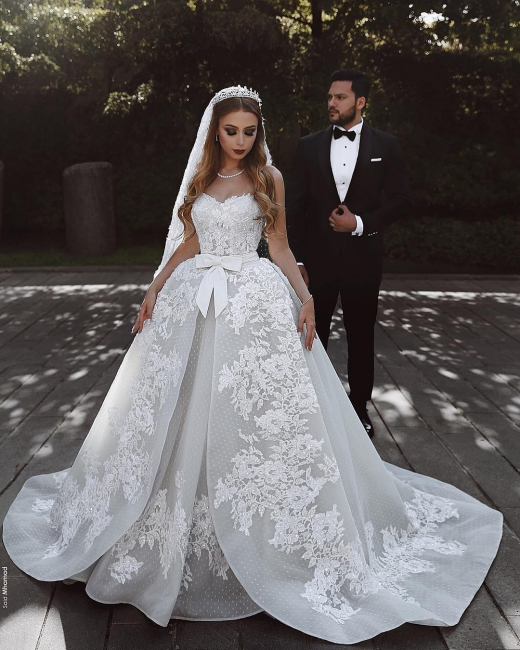 Elegant Wedding Dresses Lace White Wedding Dress A Line Online