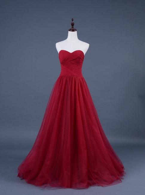 Rotes Abiballkleider Abendkleider Lang Organza Abischlussballkleider