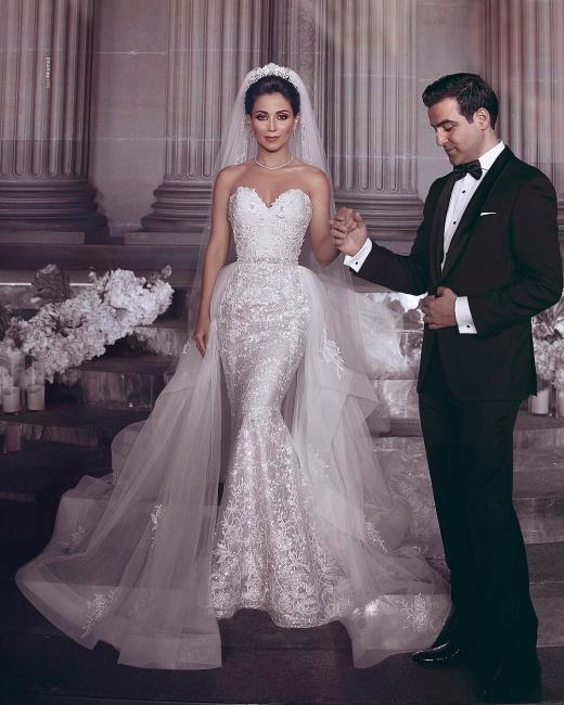 Modern Brautkleid Spitze Online | Luxus Hochzeitskleider Kaufen