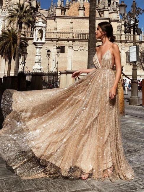 Sexy evening dresses sequins long cheap prom dresses evening wear online