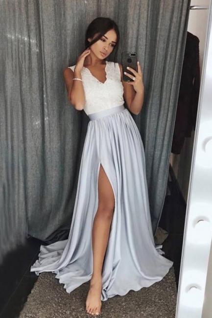 Simple evening dresses long lace | Sheath dresses evening wear online