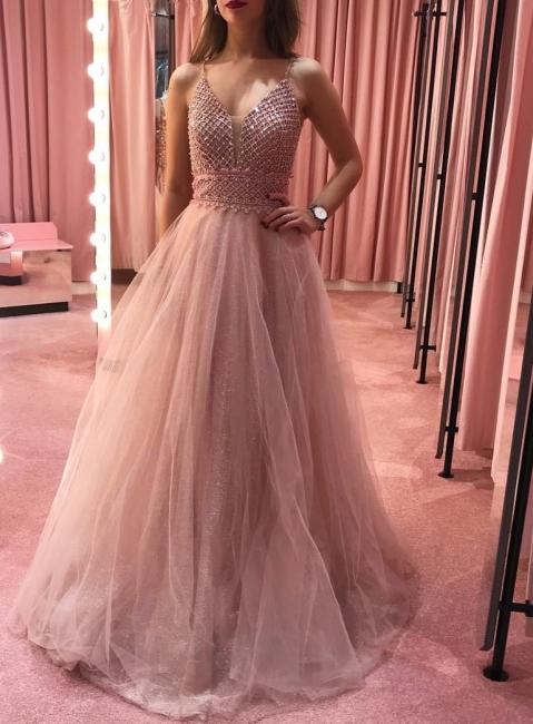 Designer Abendkleider Lang Rosa | Abiballkleider ...