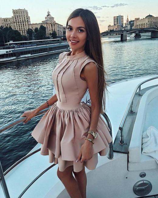 Cheap Cocktail Dresses Short A Line Satin Evening Dresses Mini Online