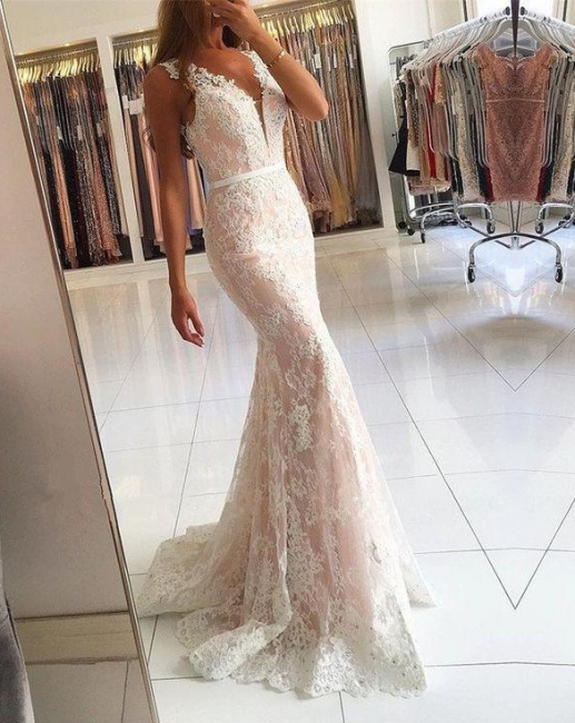 Elegant White Evening Dress Long Cheap | Top evening wear online