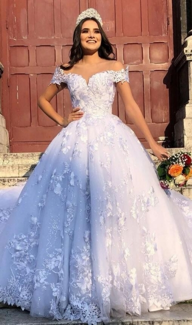 Designer Brautmoden Mit Spitze | Weiße Hochzeitskleider Prinzessin