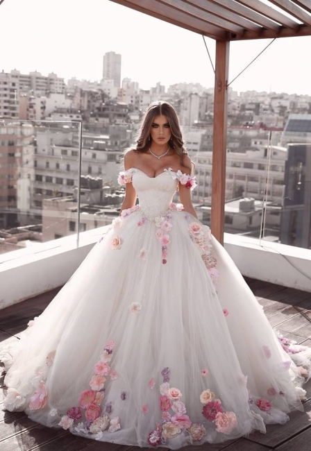 prinzessin Brautkleider Tüll | Spitze Hochzeitskleider A Linie