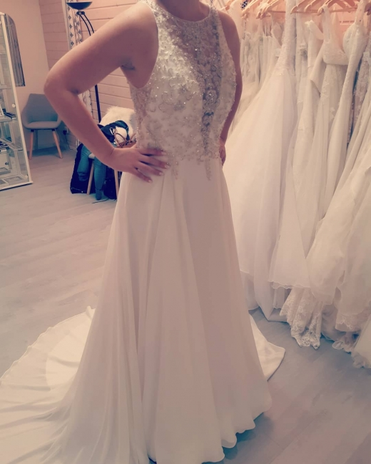 Simple wedding dresses with lace | Wedding dresses A line chiffon