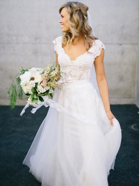 Designer Weiß Brautkleider Mit Spitze Etuikleider Bodenlang Hochzeitskleider Online