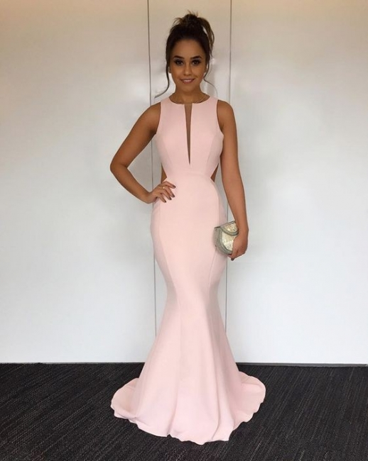 Elegant pink evening dresses long cheap satin prom dresses order online