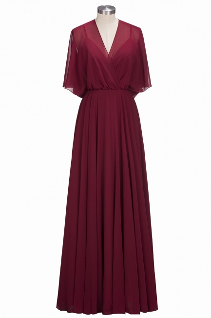 Simple Red Chiffon Mother Of The Bride Dresses Sheath Dresses Party Dresses Wedding