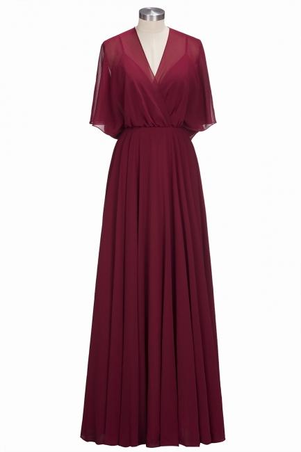 Simple Rote Chiffon Brautmutterkleider Etuikleider Partykleider Hochzeit