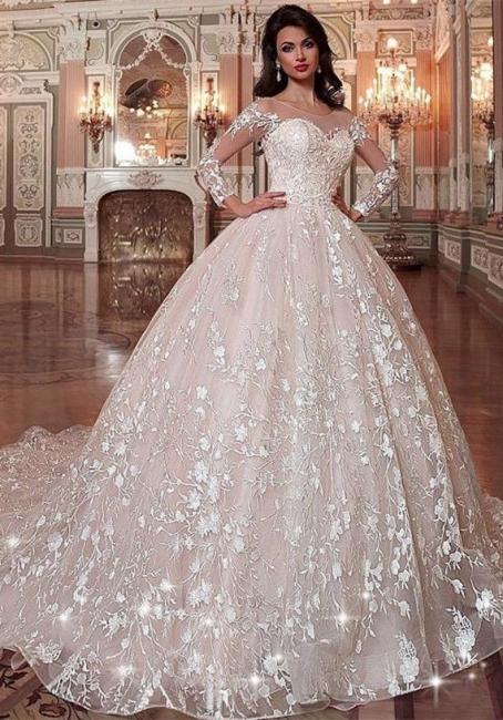 Brautkleid Vintage Lange Ärmel | Hochzeitskleid Tüll Prinzessin