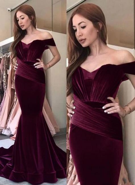 Sexy velvet green evening dresses long cheap prom dresses floor length online