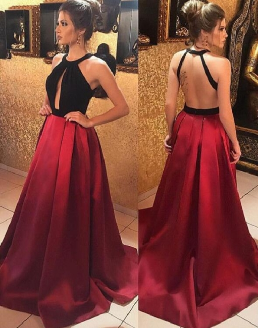 Cheap Evening Dresses Schwaz Lang A Line Wine Red Prom Dresses Online