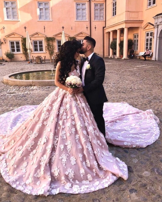 Luxury wedding dress pink | Wedding dresses Princess Onlne