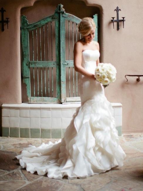 Schlichte Hochzeitskleider Elfenbein Herz Ausschnitt Brautkleider Günstig Online