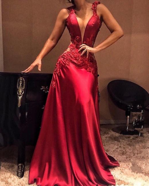 Designer Evening Dresses Red Long | Prom Dresses Cheap Online