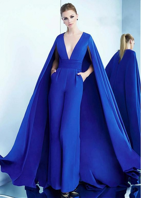 Modern evening dresses long blue | Formal evening wear online