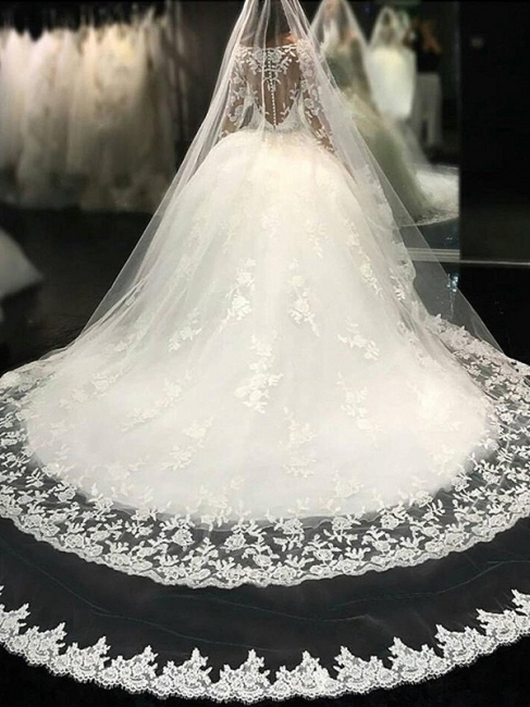 White princess wedding dresses with sleeves tulle wedding gowns cheap