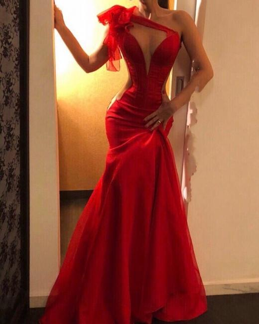 Schlichtes Abendkleider Lang Rot | Abiballkleider Günstig Kaufen
