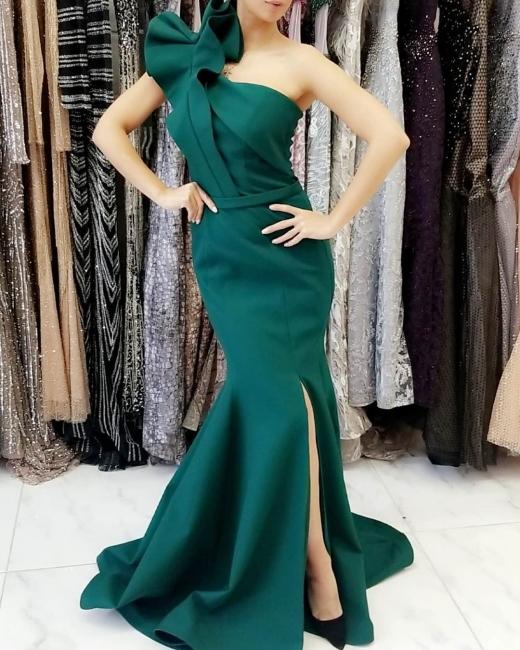 Schlichte Abendkleider Lang Grün | Abiballkleider Günstig Online