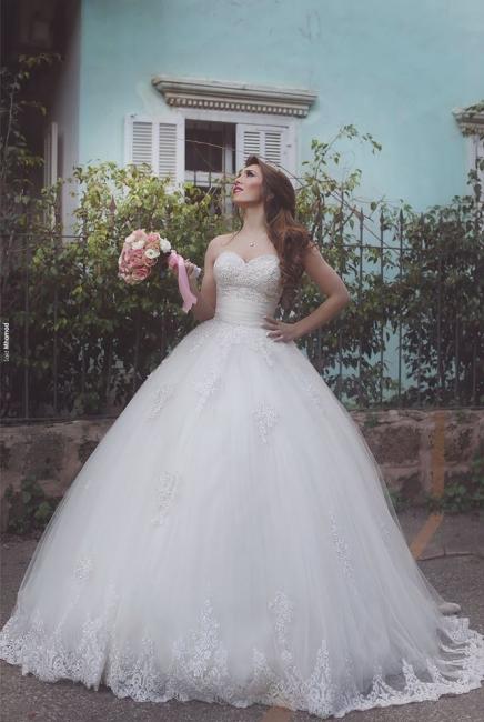 Buy White Wedding Dresses Lace Princess Wedding Dresses Online