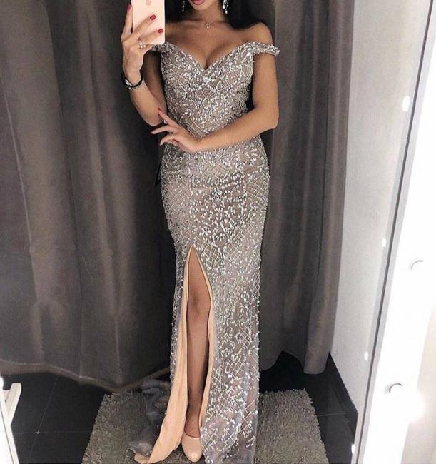 Luxury Grau Abendkleider Lang günstig Abiballkleider Online Kaufen