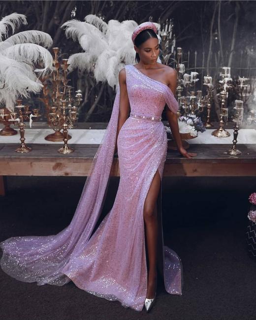 Long glitter prom dresses | Cheap evening dresses pink