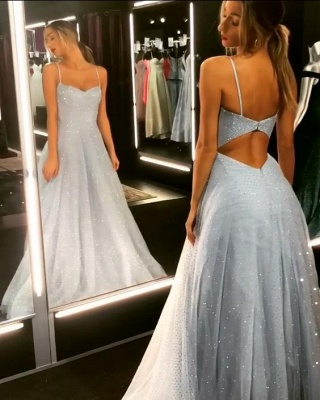 Elegant evening dresses long white | Prom dresses with glitter_3