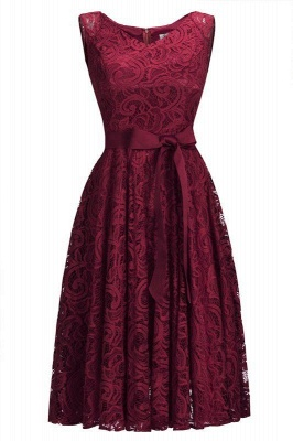 Gorgeous lace dresses women | Red short lace evening dresses_2
