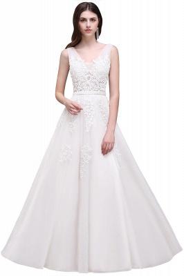 Elegant Evening Dresses Long V Neck | Prom dresses with lace_1