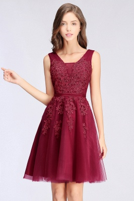 Simple evening dress wine red | Cocktail dresses lace cheap