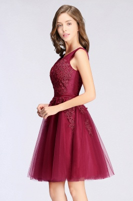 Simple evening dress wine red | Cocktail dresses lace cheap_15