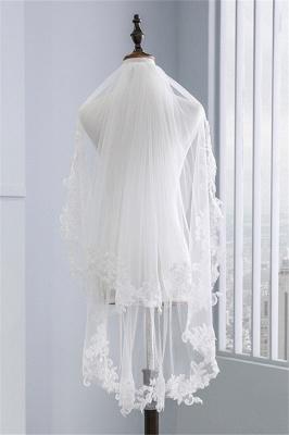 Bridal veil with lace | Veil Bride Short_2