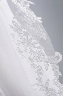 Bridal veil with lace | Veil Bride Short_5