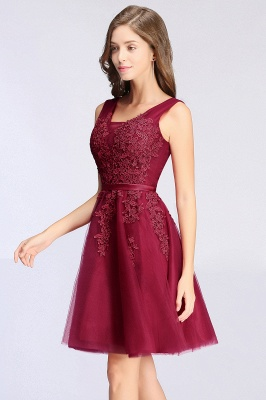 Simple evening dress wine red | Cocktail dresses lace cheap_13