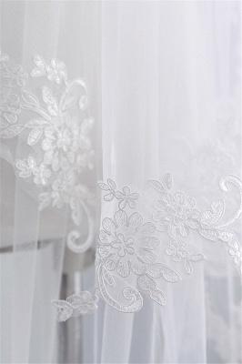 Bridal veil with lace | Veil Bride Short_6
